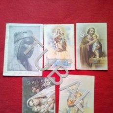 Postales: TUBAL 5 ESTAMPAS POSTALES RECORDATORIOS ANTIGUAS RELIGIOSAS. Lote 154845194
