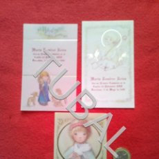 Postales: TUBAL 3 ESTAMPAS RECORDATORIOS ANTIGUAS RELIGIOSAS ESCARRÀ SALMONS. Lote 154845930