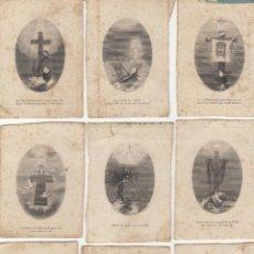 Postales: LOTE DE ESTAMPAS LITOGRAFIAS RELIGIOSAS DE LA PASION SIGLO XIX L.TURGIS - A.PARIS - NEW YORK. Lote 154889594