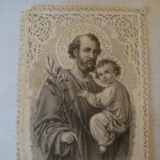 Postales: ESTAMPA DE PUNTILLA CALADA TROQUELADA. EL PATRIARCA SAN JOSÉ LE PATRIARCHE SAINT JOSEPH (L. TURGIS).. Lote 154987866