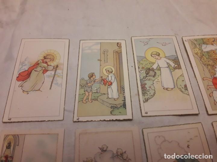 Postales: Preciosa antigua colección 23 estampas religiosas años 20, Jesucristo Niño. - Foto 2 - 155186618