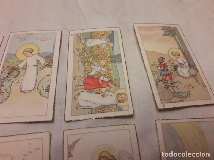 Postales: Preciosa antigua colección 23 estampas religiosas años 20, Jesucristo Niño. - Foto 3 - 155186618