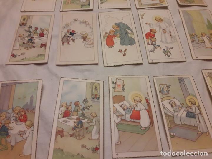 Postales: Preciosa antigua colección 23 estampas religiosas años 20, Jesucristo Niño. - Foto 11 - 155186618