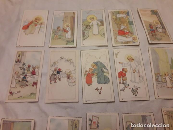 Postales: Preciosa antigua colección 23 estampas religiosas años 20, Jesucristo Niño. - Foto 13 - 155186618