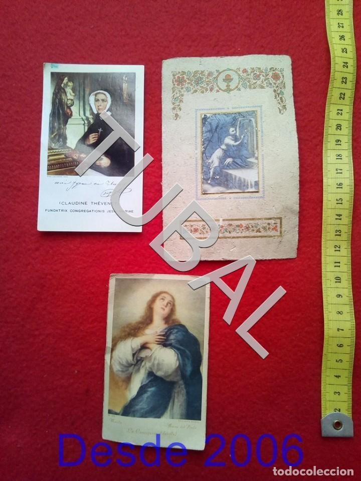TUBAL 3 ESTAMPAS POSTALES RECORDATORIOS (Postales - Postales Temáticas - Religiosas y Recordatorios)