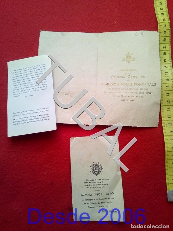 Postales: TUBAL 3 ESTAMPAS POSTALES RECORDATORIOS - Foto 2 - 155271598