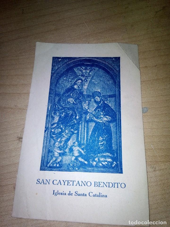 ANTIGUA ESTAMPA.ORACION SAN CAYETANO.IGLESIA SANTA CATALINA.SEVILLA (Postales - Postales Temáticas - Religiosas y Recordatorios)