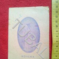 Postales: TUBAL NOVENA A LA VIRGEN MILAGROSA RECORDATORIO JACULATORIA. Lote 155696030