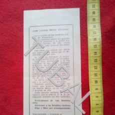 Postales: TUBAL ZAYA VIZCAYA APOSTOLADO EDICIONES RECORDATORIO JACULATORIA. Lote 155696182