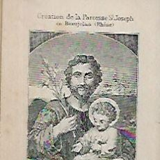 Postcards - ESTAMPA RECORDATORIO FINALES SIGLO XIX * SAINT JOSEPH * - 156284162