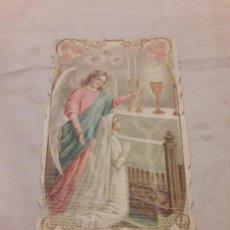 Postales: ANTIGUO RECORDATORIO 1ª COMUNIÓN AÑO 1908 SAN FÉLIX DE SABADELL. Lote 156396526