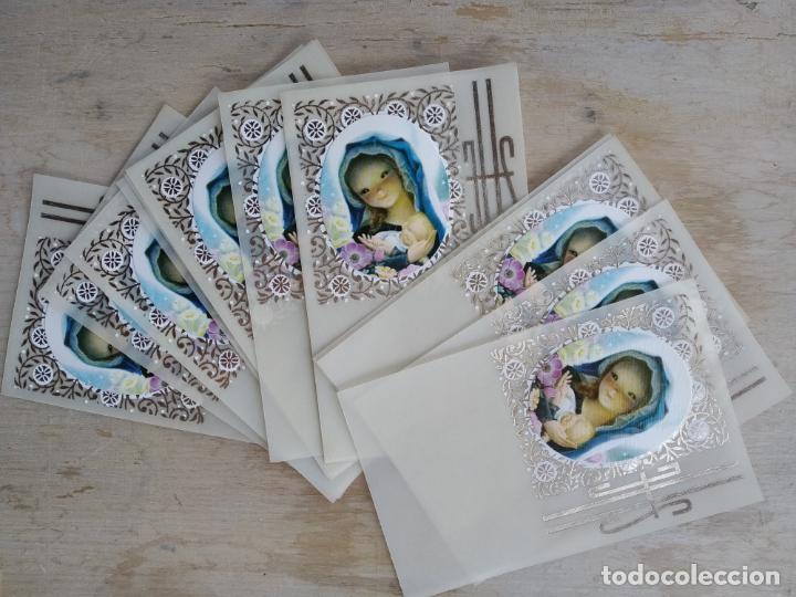 Postales: Lote de 13 estampitas vintage, sin imprimir - Foto 2 - 156545706