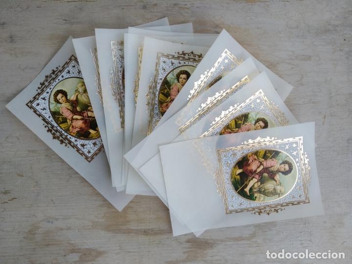 Postales: Lote de 10 estampitas vintage, sin imprimir - Foto 2 - 156546734