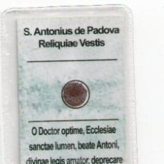 Postales: RELIQUIAE VESTIS S. ANTONIUS DE PADOVA. Lote 156791637