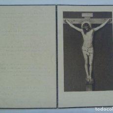 Postales: RECORDATORIO DE SEÑORA VIUDA FALLECIDA EN 1951 . MADRID. Lote 157870478