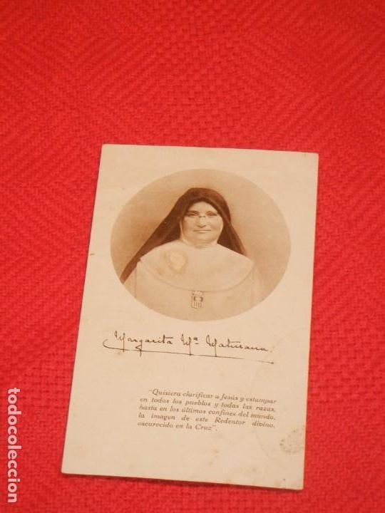 ESTAMPA MADRE MARGARITA Mª MATURANA, MERCEDARIAS MISIONERAS DE BERRIZ (Postales - Postales Temáticas - Religiosas y Recordatorios)