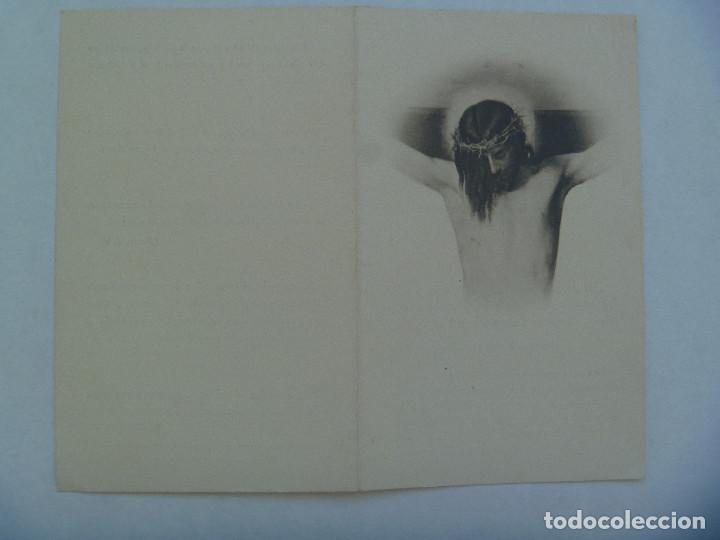 RECORDATORIO DE SEÑORA VIUDA FALLECIDA EN 1951 . MADRID (Postales - Postales Temáticas - Religiosas y Recordatorios)