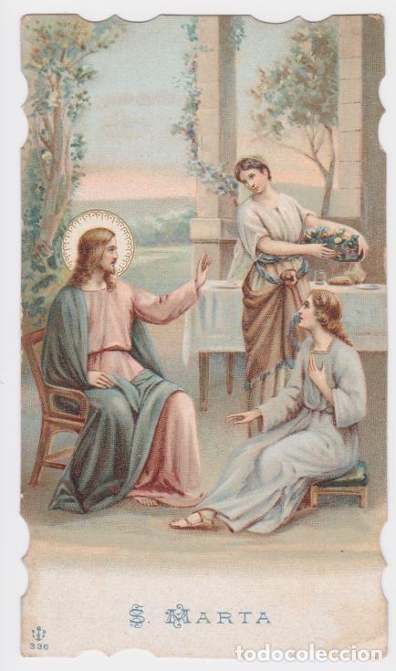 ESTAMPA TROQUELADA DE SANTA MARTA - E.B. EL ANCLA 336 - DORSO EN BLANCO - (12X6,8) (Postales - Postales Temáticas - Religiosas y Recordatorios)