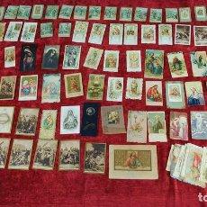 Postales: GRAN LOTE DE ESTAMPAS RELIGIOSA Y CROMOS TROQUELADOS. PAPEL IMPRESO. ESPAÑA. XIX-XX. Lote 159522666