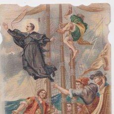 Postales: ESTAMPA TROQUELADA EXTASIS DE SANT JOSEPH ORIOL - ESTAMPERIA DEL SAGRAT COR. Lote 159576854