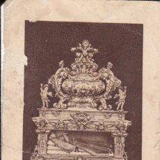 Postales: ESTAMPA SEPULCRO DE SAN PASCUAL BAILÓN VILLARREAL CASTELLÓN PUBLICIDAD CEREGUMIL FDEZ.(ESCRITA) . Lote 159786534
