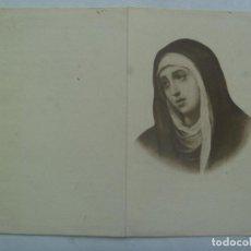 Postales: RECORDATORIO DE SEÑORA VIUDA FALLECIDA EN 1951 . MADRID. Lote 160437550