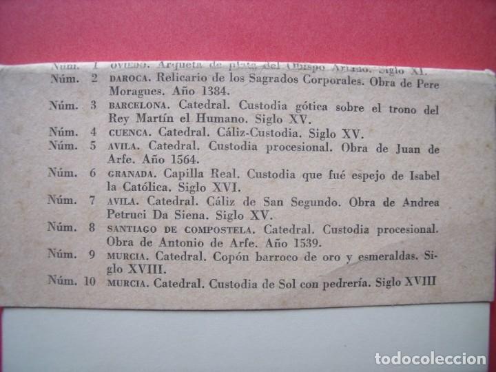 Postales: EXPOSICION NACIONAL DE ARTE EUCARISTICO ANTIGUO.-ALBA.-BLOC DE 10 POSTALES.-OVIEDO.-DAROCA.-CUENCA. - Foto 4 - 160572526