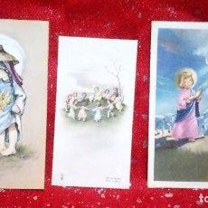 Postales: LOTE DE 7 ESTAMPITAS RELIGIOSAS (INFANTILES,COMUNIÓN...) - TRES REPETIDAS ... AÑOS 70.. Lote 160634070