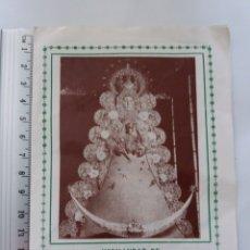 Postales: SOLEMNE TRIDUO VIRGEN DEL ROCIO MISA ROMEROS AÑOS 1986. Lote 161124017