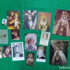 Postales: LOTE GRAN VARIADO DE IMAGENES RELIGIOSAS, VARIAS FORMATOS. Lote 161210910
