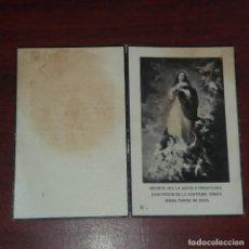 Postales: ESTAMPA DEFUNCION MORTUORIA - 1939 - VER DETALLES. Lote 162104750