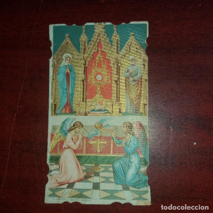 ESTAMPA AÑO 1914 -RECORDATORIO PRIMERA MISA -ALZIRA -VALENCIA - VER DETALLES (Postales - Postales Temáticas - Religiosas y Recordatorios)
