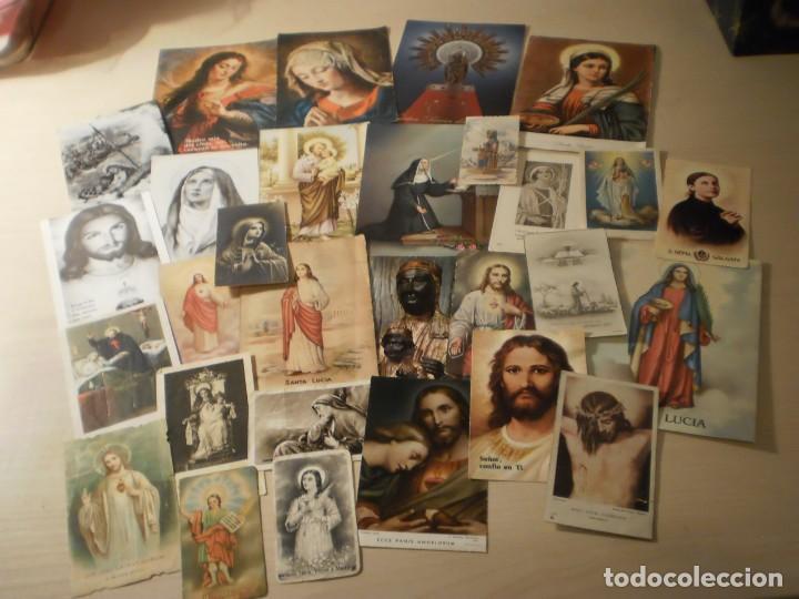 LOTE DE 29 ESTAMPAS Y POSTALES RELIGIOSAS ANTIGUAS (Postales - Postales Temáticas - Religiosas y Recordatorios)
