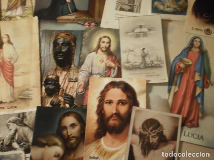 Postales: Lote de 29 estampas y postales religiosas antiguas - Foto 2 - 162280678