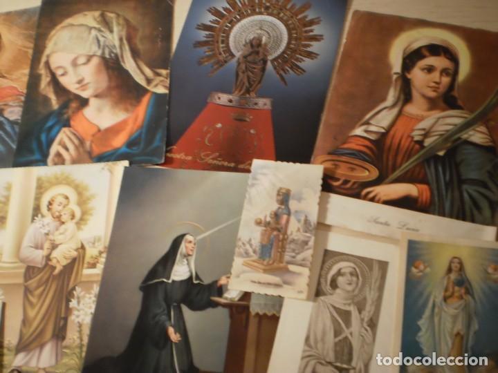 Postales: Lote de 29 estampas y postales religiosas antiguas - Foto 3 - 162280678