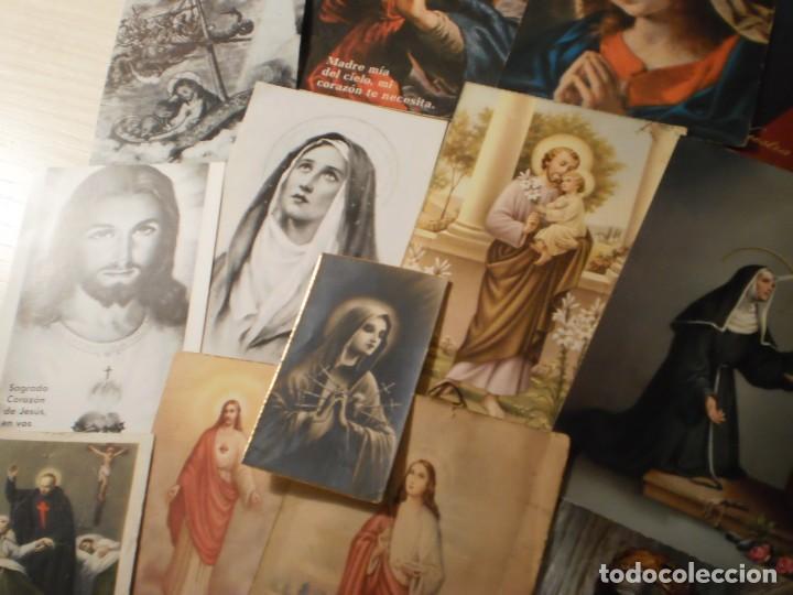 Postales: Lote de 29 estampas y postales religiosas antiguas - Foto 4 - 162280678