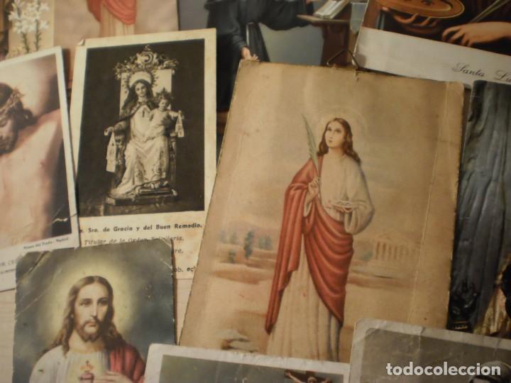 Postales: Lote de 29 estampas y postales religiosas antiguas - Foto 5 - 162280678