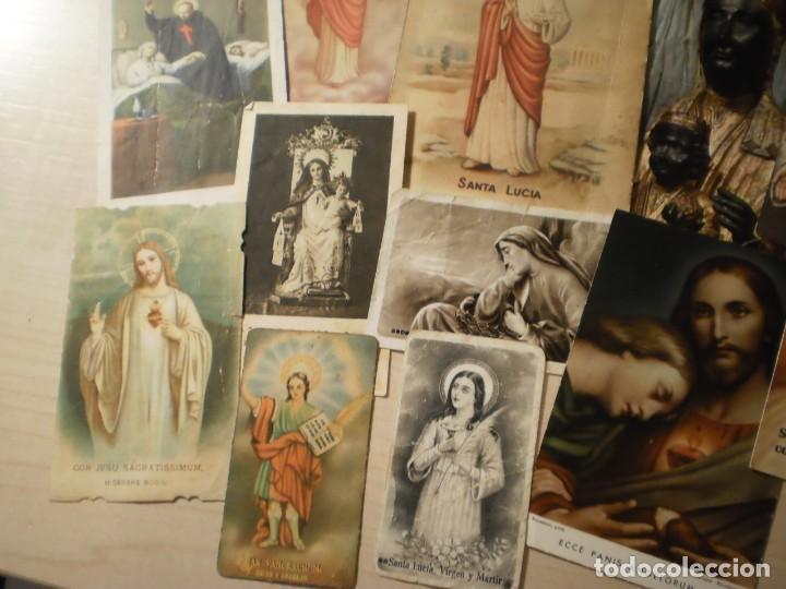 Postales: Lote de 29 estampas y postales religiosas antiguas - Foto 6 - 162280678