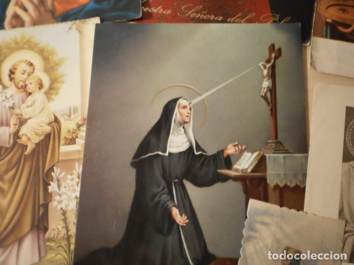 Postales: Lote de 29 estampas y postales religiosas antiguas - Foto 7 - 162280678