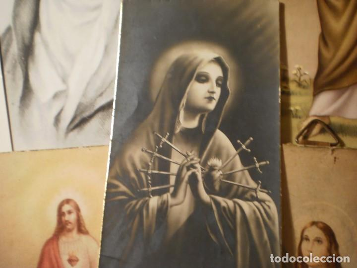 Postales: Lote de 29 estampas y postales religiosas antiguas - Foto 10 - 162280678
