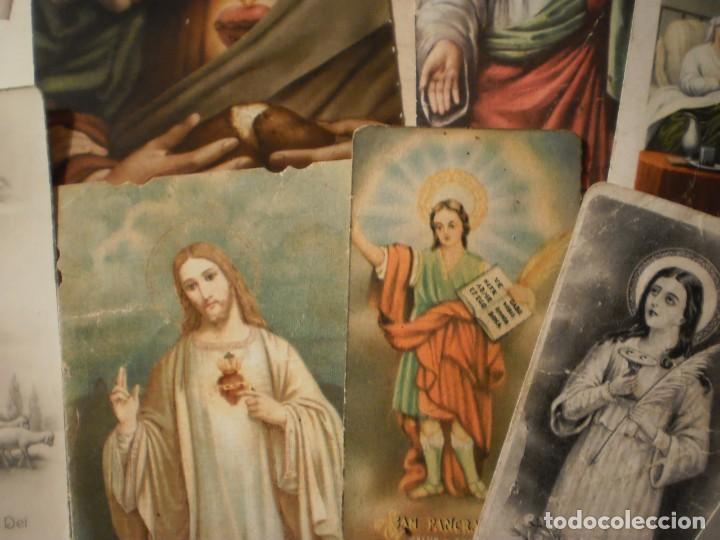 Postales: Lote de 29 estampas y postales religiosas antiguas - Foto 11 - 162280678