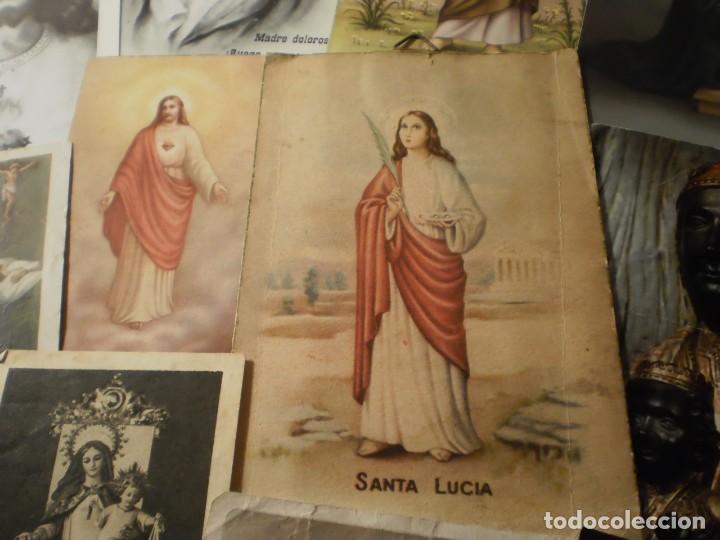 Postales: Lote de 29 estampas y postales religiosas antiguas - Foto 12 - 162280678
