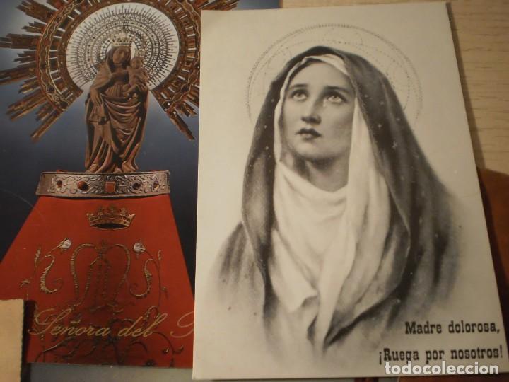 Postales: Lote de 29 estampas y postales religiosas antiguas - Foto 14 - 162280678