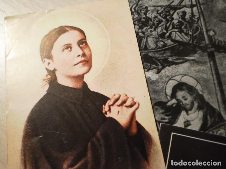 Postales: Lote de 29 estampas y postales religiosas antiguas - Foto 16 - 162280678