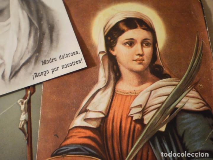 Postales: Lote de 29 estampas y postales religiosas antiguas - Foto 19 - 162280678