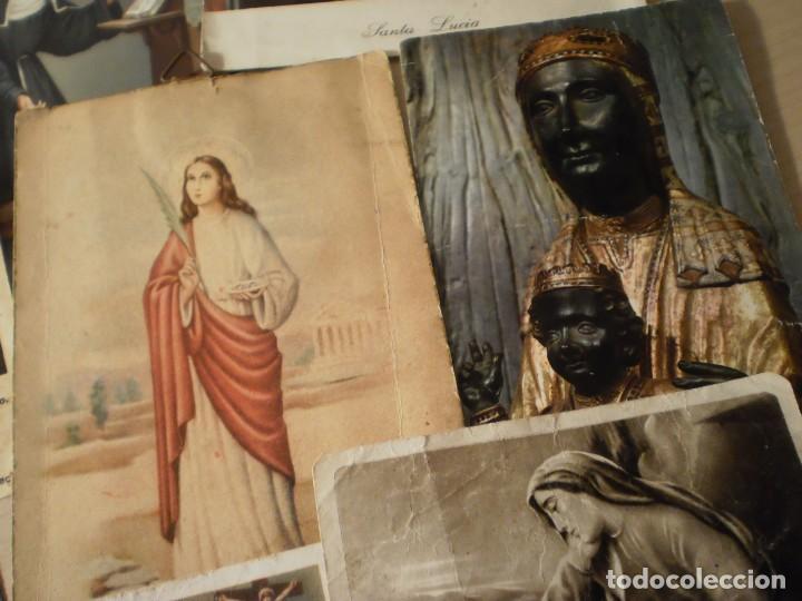 Postales: Lote de 29 estampas y postales religiosas antiguas - Foto 20 - 162280678