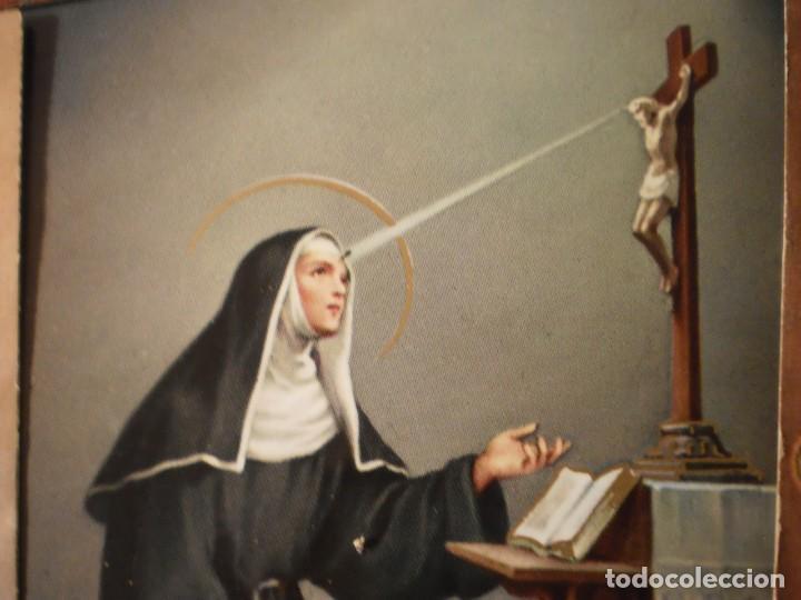 Postales: Lote de 29 estampas y postales religiosas antiguas - Foto 21 - 162280678