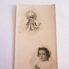 Postales: ESTAMPA RECORDATORIO COMUNION - 1946 - LINARES JAEN - . Lote 162395034