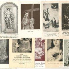 Postales: LOTE DE 9 ESTAMPITAS DE ORACIONES. Lote 162437458