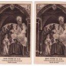 Postales: 2 RECORDATORIOS. BEATA BEATRIZ DE SILVA. ORDEN CONCEPCIONISTA. TOLEDO, AÑOS 50. Lote 162452698